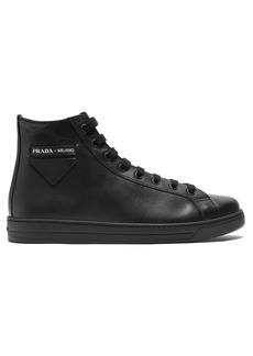 Prada High top calf leather trainers