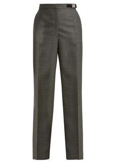 Prada High-waisted damier wool trousers