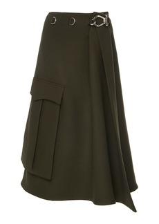 Prada High-Waisted Midi Wrap Skirt