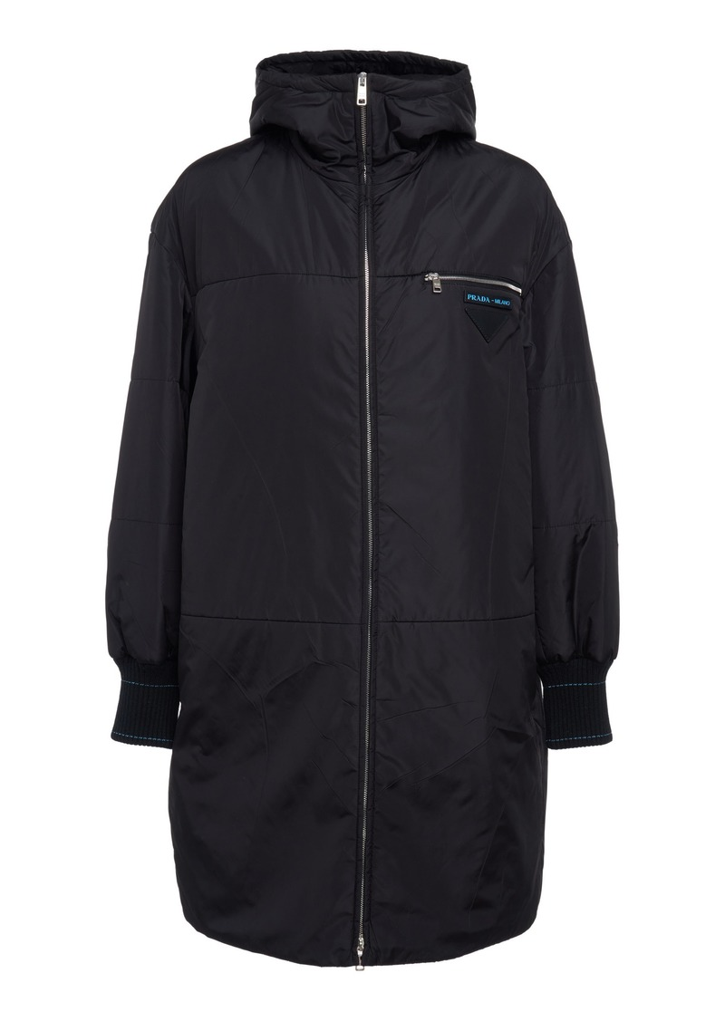 Prada Hooded Quilted Shell Down Jacket