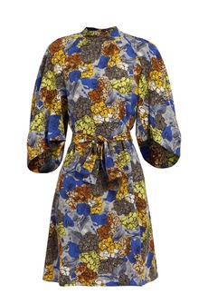 Prada Hydrangea-print silk-crepe dress