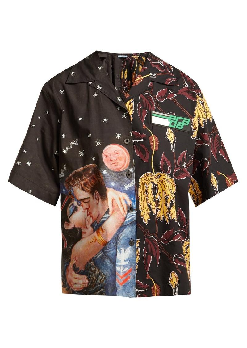 38655b6a464e4 Prada Prada Impossible True Love and Lilium-print cotton shirt ...