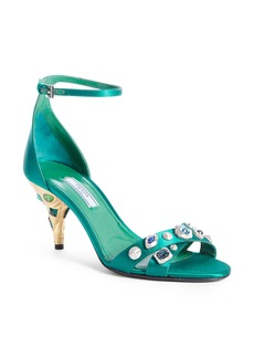 Prada Jewel Ankle Strap Sandal (Women)