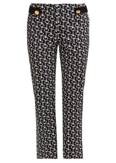 Prada Key-print wool-twill trousers