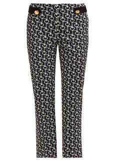 Prada Key-print wool-twill trousers