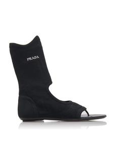 Prada Knitted Flat Sandals