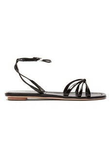 Prada Knot-front patent-leather sandals