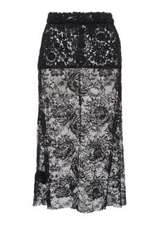 Prada Lace Midi Skirt