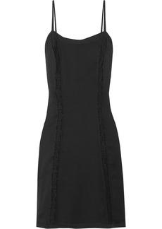 Prada Lace-paneled Silk Dress