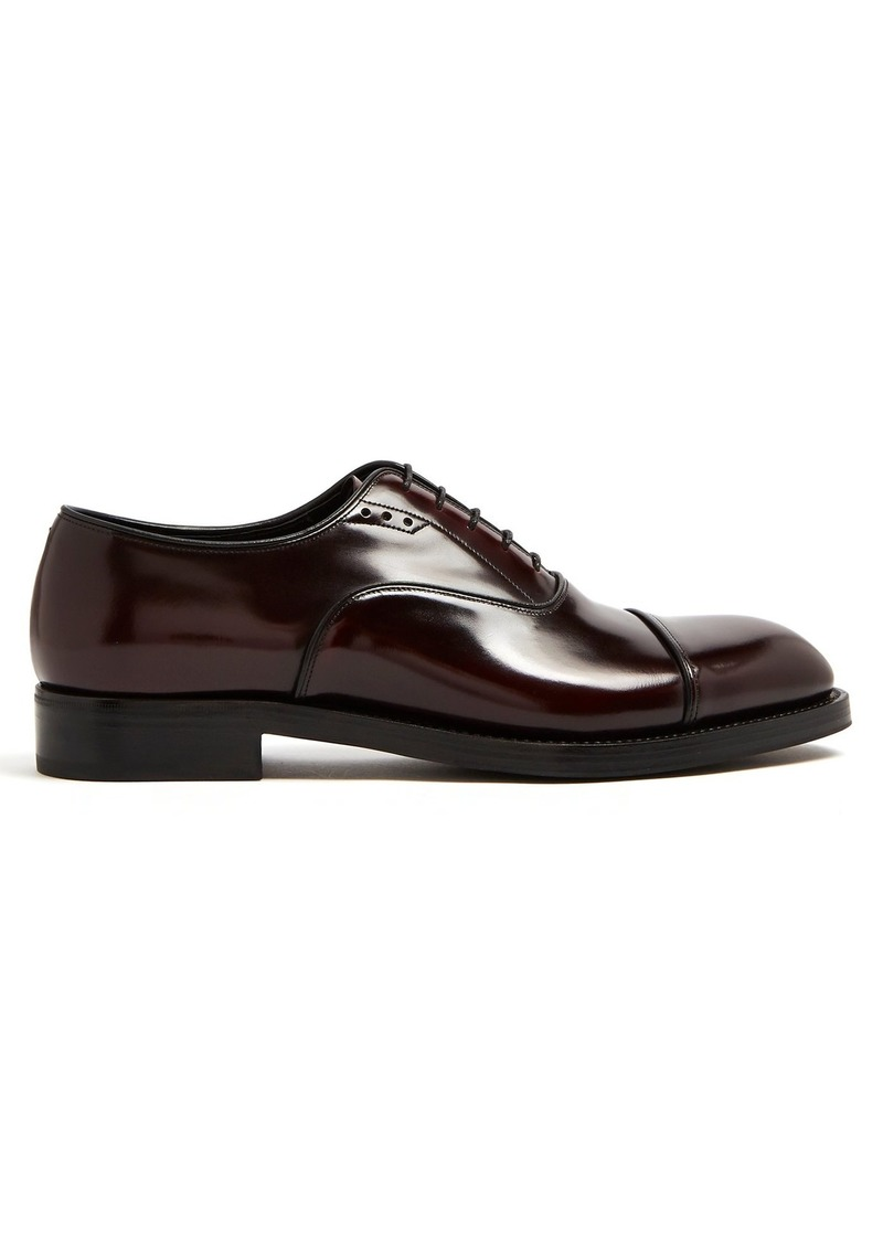 Prada Leather Up Shoes Derby Lace rq6Er