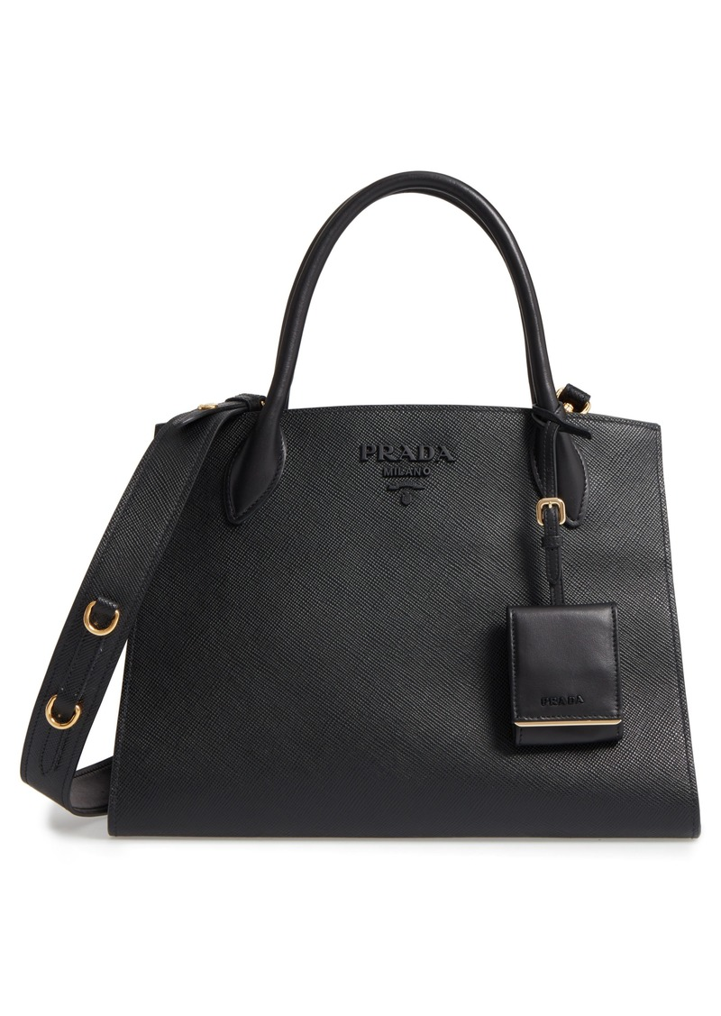 6f4cb740a712c1 Prada Prada Large Monochrome Tote | Handbags