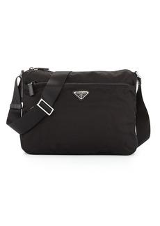 Prada Large Nylon Crossbody Bag  Black (Nero)