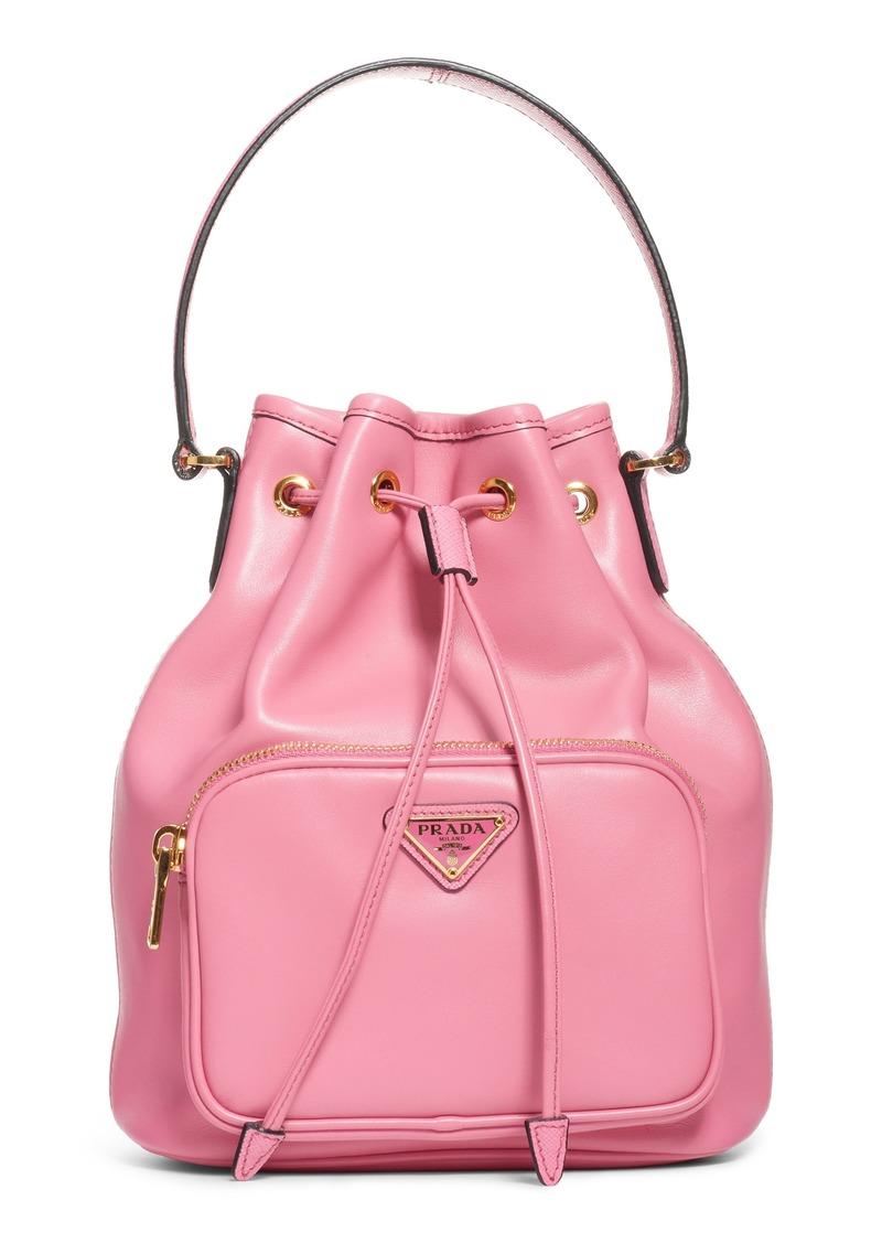 26704d1c89e513 Prada Prada Leather Bucket Bag | Handbags