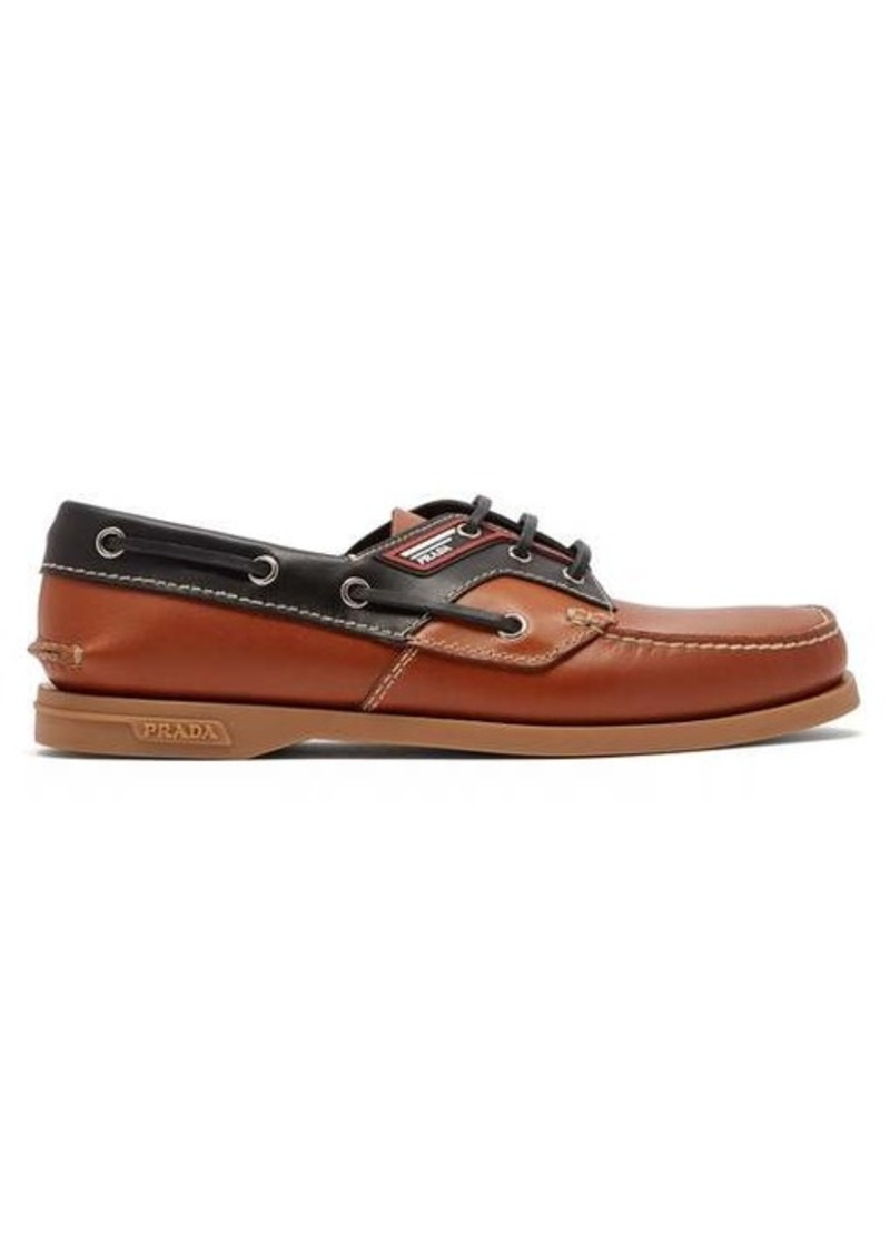 Prada Leather deck shoes