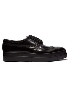 Prada Leather flatform brogues