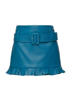 Prada Leather Mini Skirt