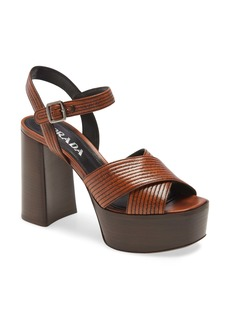 Prada Leather Platform Sandal