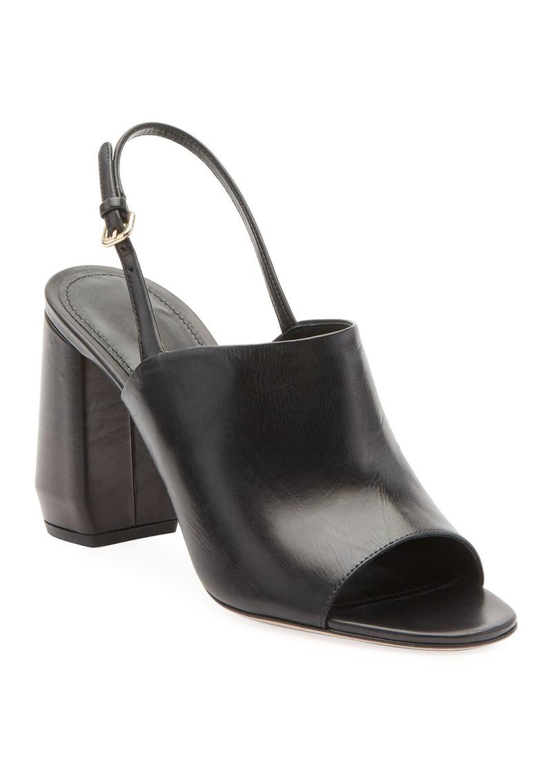 Prada Leather Slingback 85mm Sandals