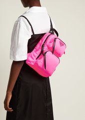 f08cd4903a03 Prada Prada Leather-trimmed nylon backpack   Handbags