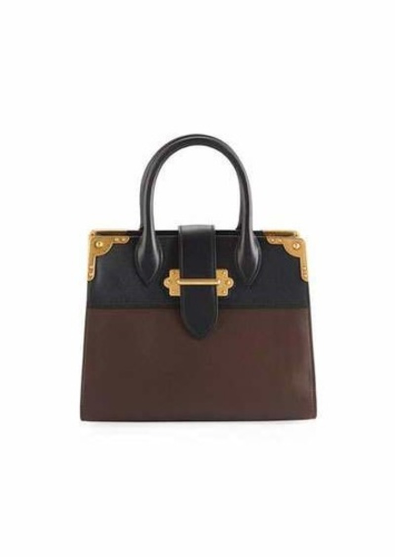 90a0367a3a08 Prada Prada Leather Trunk Tote Bag