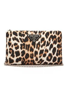 Prada Leopard-print nylon cross-body bag