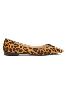 Prada Leopard-print calf-hair ballet flats
