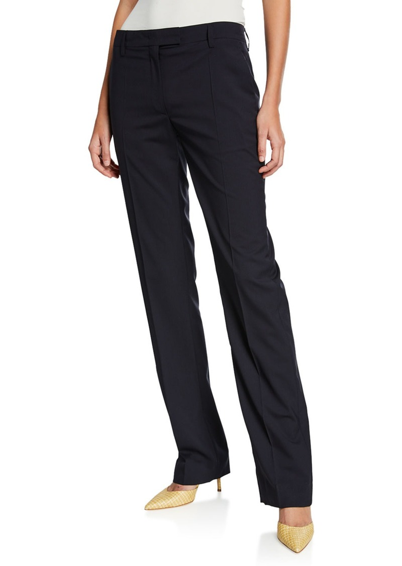 Prada Lightweight Wool Straight-Leg Pants