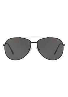 Prada Linea Rossa 57mm Aviator Sunglasses