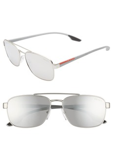 Prada Linea Rossa 59mm Navigator Sunglasses