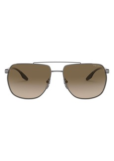 Prada Linea Rossa 62mm Oversize Square Sunglasses