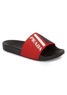 Prada Linea Rossa Logo Slide Sandal (Men)