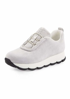 Prada Linea Rossa Suede Stretch-Vamp 35mm Sneaker
