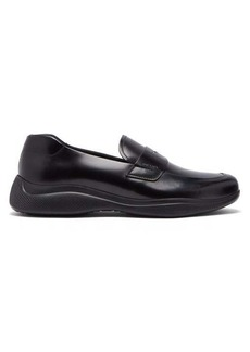 Prada Linearossa chunky-sole leather loafers