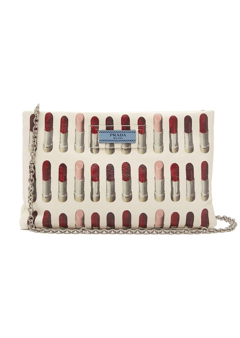 new release wholesale sales new list Lipstick-print leather clutch