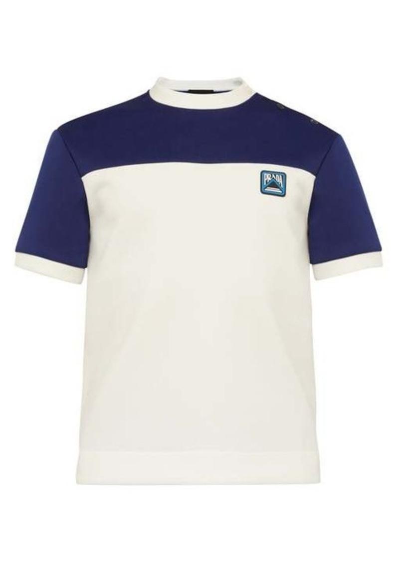 Prada Logo buttoned T-shirt