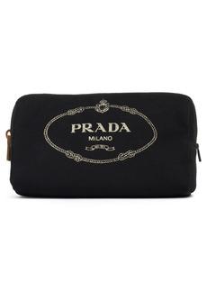 Prada Logo Canvas Cosmetic Pouch