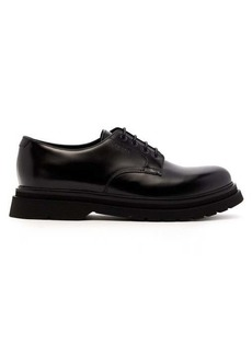 Prada Logo-debossed leather derby shoes