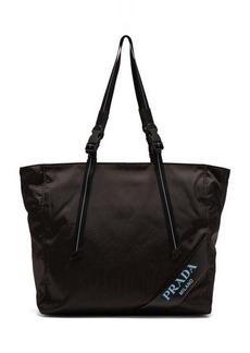 Prada Logo-debossed nylon tote bag