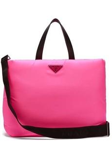 Prada Logo-embellished padded-nylon tote bag