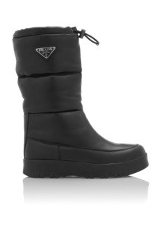 Prada Logo-Embellished Quilted Shell Boots