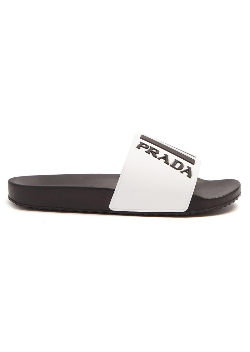 acf83ed3b5d0 Prada Prada Logo-embossed rubber slides