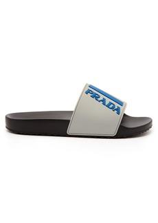 Prada Logo-embossed rubber slides