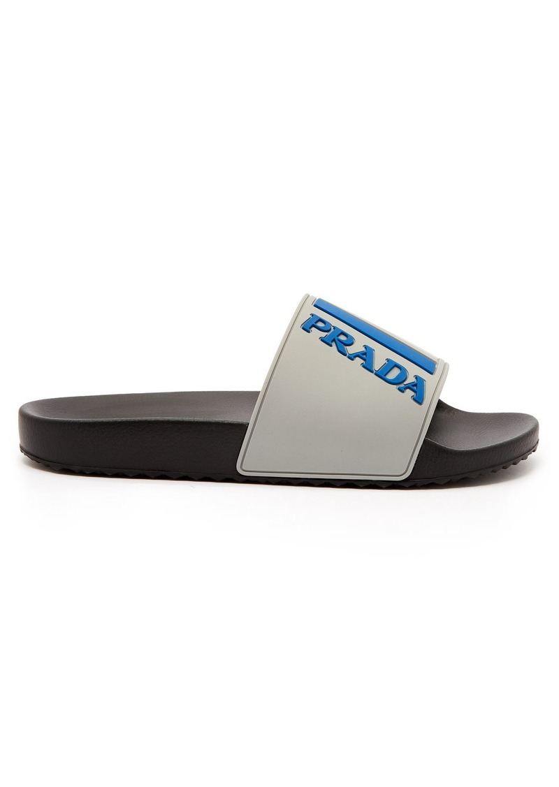 a09395c09d6f On Sale today! Prada Prada Logo-embossed rubber slides