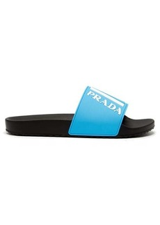Prada Logo-embossed rubber slides