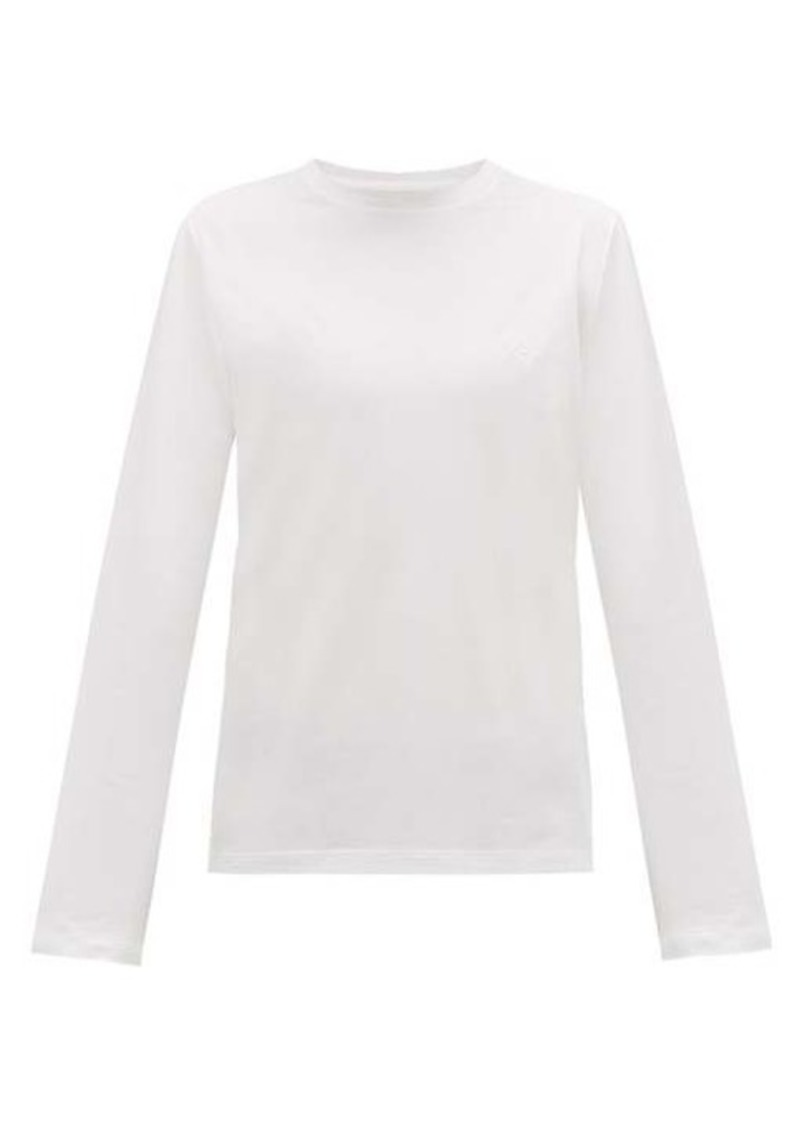 Prada Logo-embroidered long-sleeve cotton T-shirt