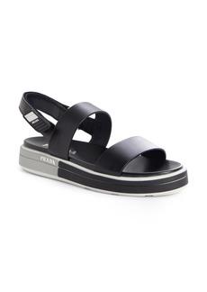 Prada Logo Heel Sport Sandal (Women)
