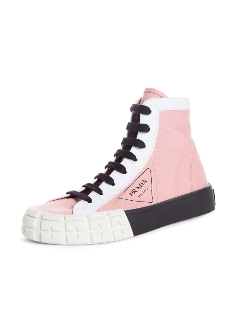 Prada Logo High Top Sneaker (Women)