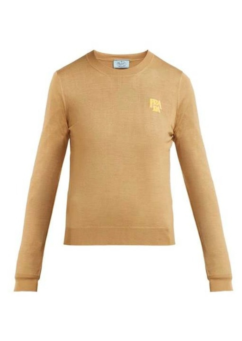 Prada Logo-intarsia wool sweater