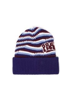 Prada Logo-jacquard knitted-cashmere beanie hat