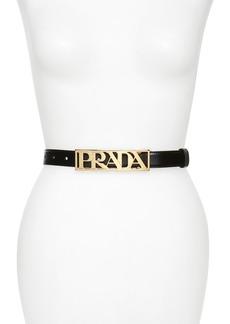 Prada Logo Letters Leather Belt